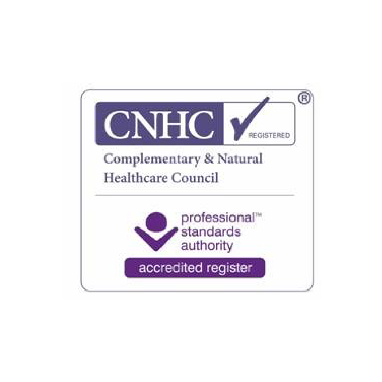 The complementary and natural health care council (CNHC) was set up by the government to protect the public. They do this by providing an independent UK register of complementary healthcare practitioners. Protection of the public is their sole purpose. The CNHC set the standards that practitioners need to meet to get onto and then stay on the register. All CNHC registrants have agreed to be bound by the highest standards of conduct and have registered voluntarily. All of them are professionally trained and fully insured to practice.